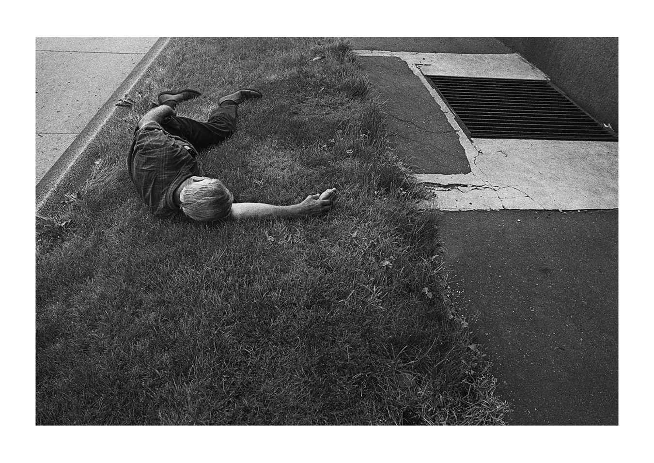 A Man Sleeping on the Grass, Detroit 1972