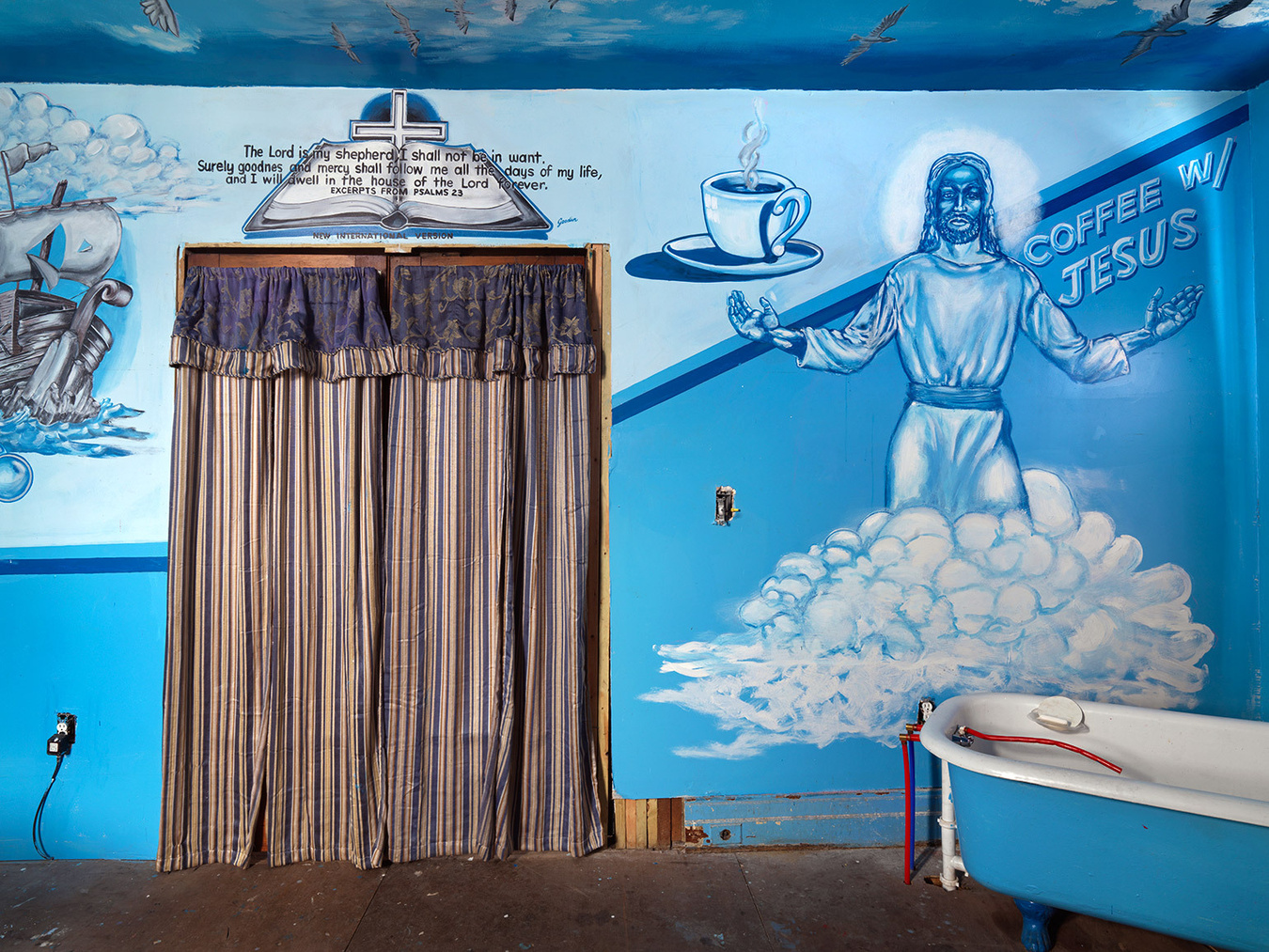 Coffee with Jesus, Kats's Bathroom, Eastside, Detroit 2015